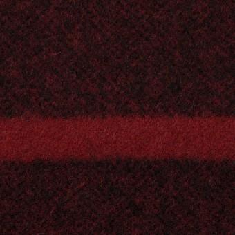 ウール×ボーダー(ガーネット&ブラック)×ツイード_パネル サムネイル1