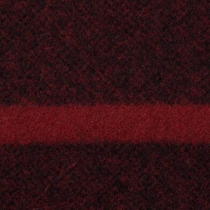 ウール×ボーダー(ガーネット&ブラック)×ツイード_パネル イメージ1