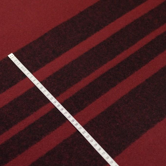 ウール×ボーダー(ガーネット&ブラック)×ツイード_パネル イメージ6