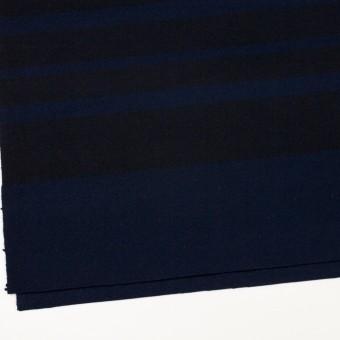 ウール×ボーダー(ネイビー&ブラック)×ツイード_パネル サムネイル2
