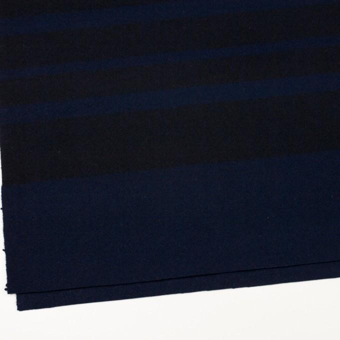 ウール×ボーダー(ネイビー&ブラック)×ツイード_パネル イメージ2