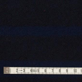 ウール×ボーダー(ネイビー&ブラック)×ツイード_パネル サムネイル4