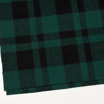 ウール×チェック(クロムグリーン&ブラック)×ツイード_全2色 サムネイル2