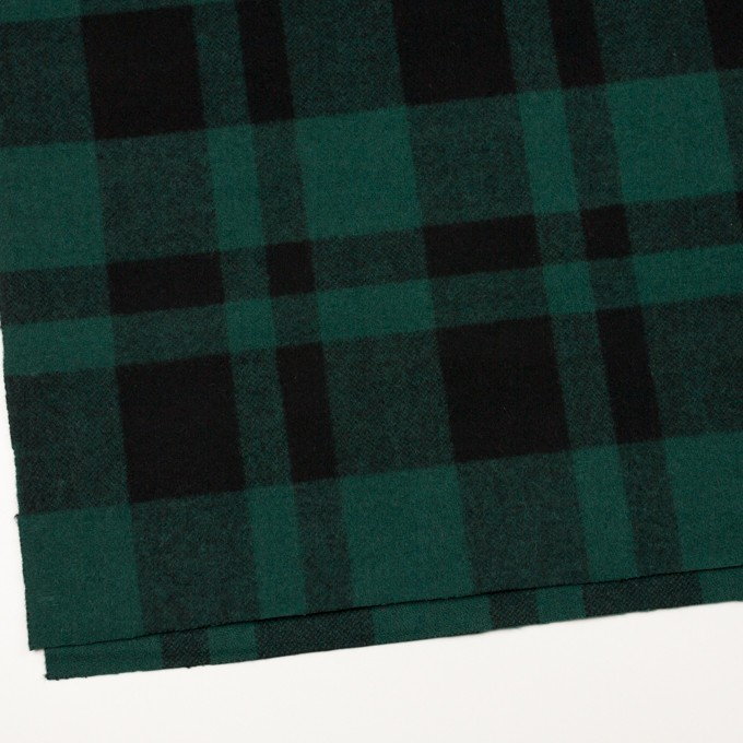 ウール×チェック(クロムグリーン&ブラック)×ツイード_全2色 イメージ2