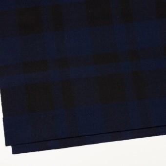 ウール×チェック(ネイビー&ブラック)×ツイード_全2色 サムネイル2