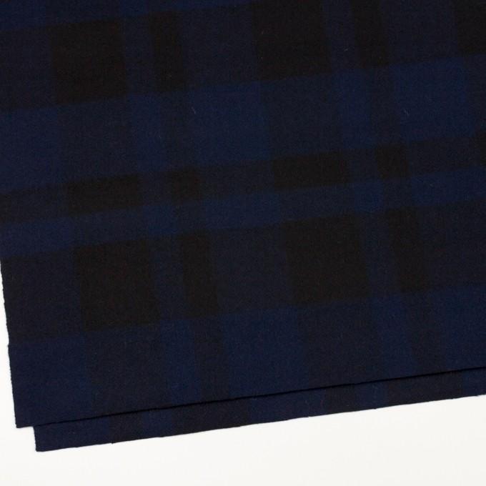 ウール×チェック(ネイビー&ブラック)×ツイード_全2色 イメージ2