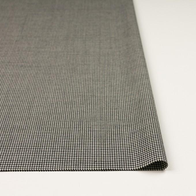 ウール&ポリウレタン×チェック(ブラック)×千鳥格子ストレッチ イメージ3