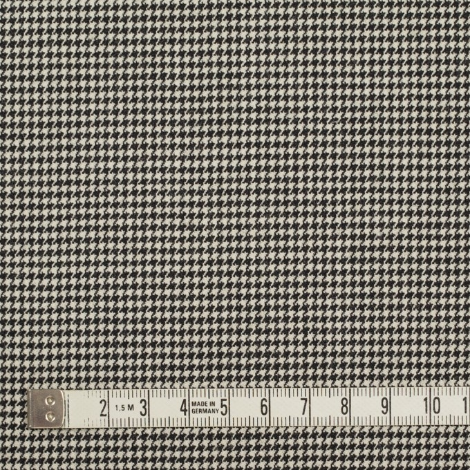 ウール&ポリウレタン×チェック(ブラック)×千鳥格子ストレッチ イメージ4