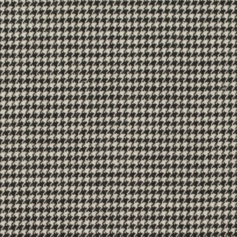 ウール&ポリウレタン×チェック(ブラック)×千鳥格子ストレッチ