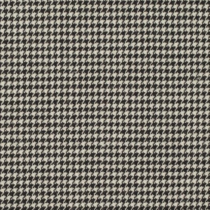 ウール&ポリウレタン×チェック(ブラック)×千鳥格子ストレッチ イメージ1