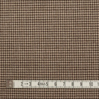 ウール&ポリウレタン×チェック(モカ)×千鳥格子ストレッチ サムネイル4