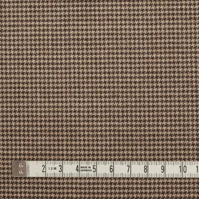 ウール&ポリウレタン×チェック(モカ)×千鳥格子ストレッチ イメージ4