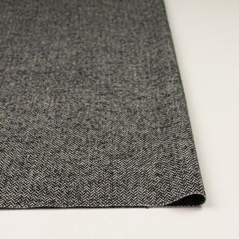 ウール&ナイロン×ミックス(ブラック)×ヘリンボーン_全2色 サムネイル3