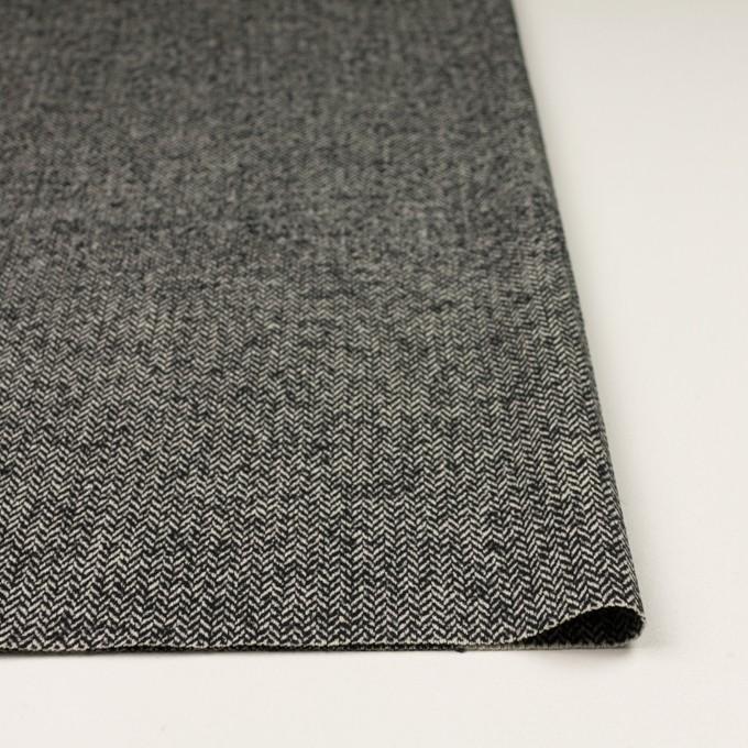 ウール&ナイロン×ミックス(ブラック)×ヘリンボーン_全2色 イメージ3