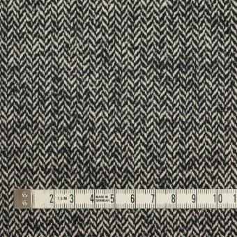 ウール&ナイロン×ミックス(ブラック)×ヘリンボーン_全2色 サムネイル4