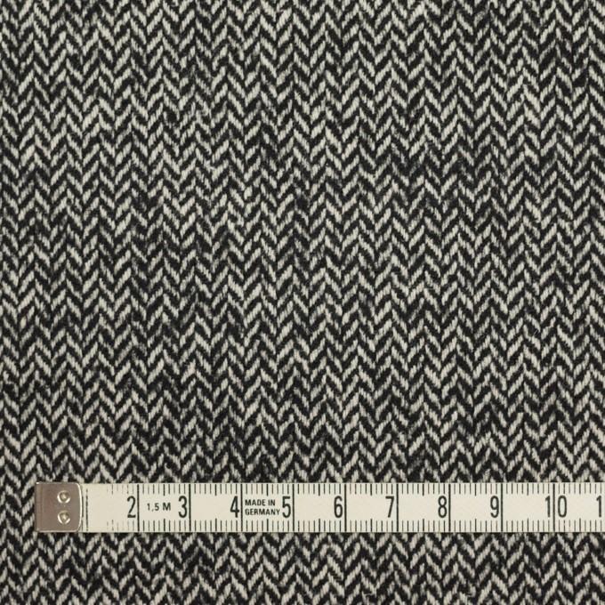 ウール&ナイロン×ミックス(ブラック)×ヘリンボーン_全2色 イメージ4