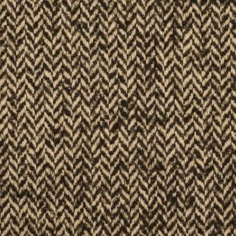 【150cmカット】ウール&ナイロン×ミックス(ダークブラウン)×ヘリンボーン_全2色