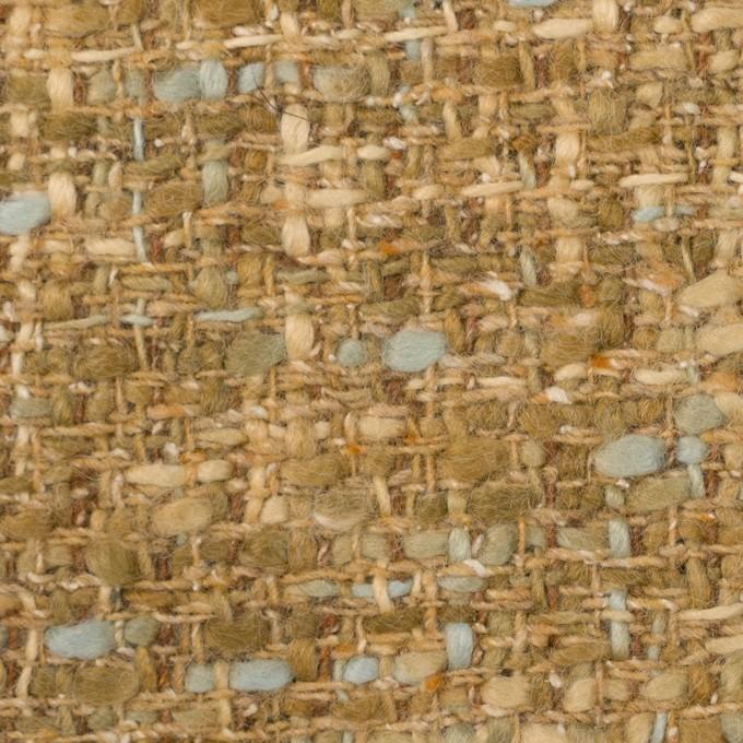 ウール&アクリル混×ミックス(ハーベストゴールド)×ファンシーツイード_イタリア製 イメージ1