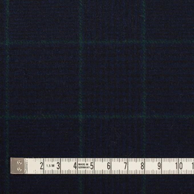 ウール×チェック(ネイビー&ダークネイビー)×サージ イメージ4