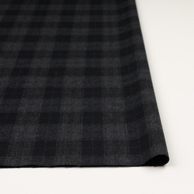 ウール×チェック(グレー&ブラック)×サージ イメージ3