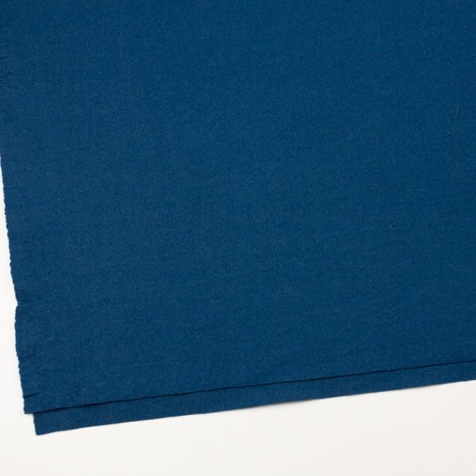 ウール&ナイロン×無地(インクブルー)×フラノ(フランネル) イメージ2