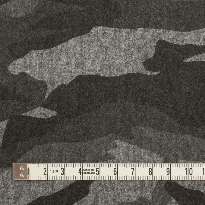 ウール&ポリウレタン×迷彩(グレーミックス)×フラノストレッチ_全2色 イメージ4