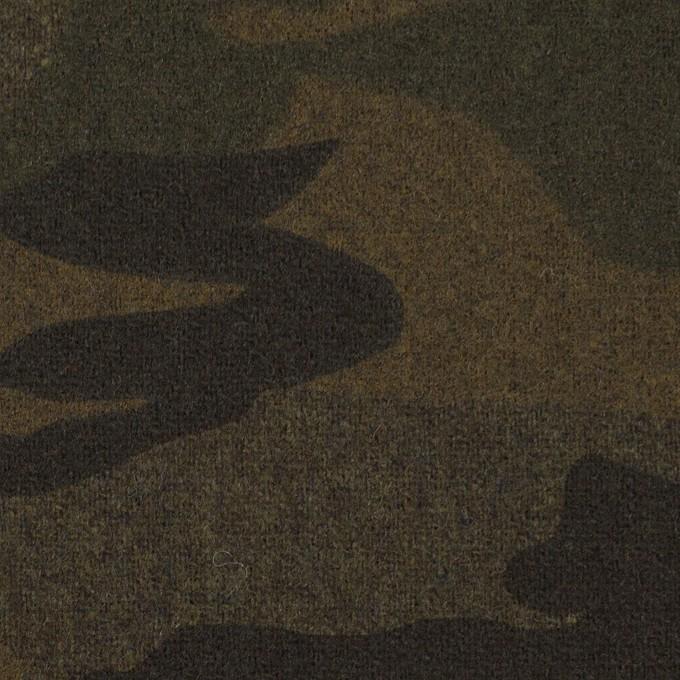 ウール&ポリウレタン×迷彩(カーキミックス)×フラノストレッチ_全2色 イメージ1