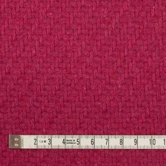 ウール&ナイロン×無地(ショッキングピンク)×かわり織_イタリア製 サムネイル4
