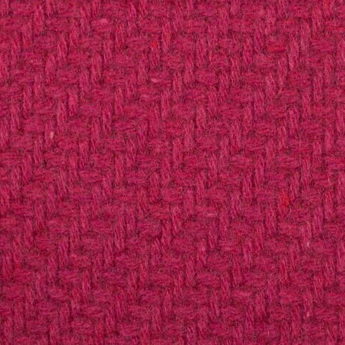 ウール&ナイロン×無地(ショッキングピンク)×かわり織_イタリア製 イメージ1