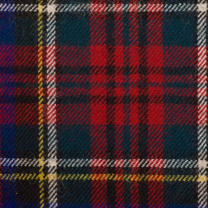 ウール×チェック(レッド、ブルー&モスグリーン)×サージ イメージ1