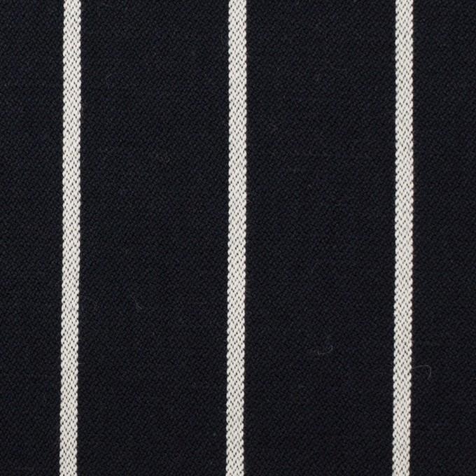 コットン×ストライプ(ダークネイビー)×ドビー イメージ1