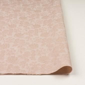 ポリエステル&ウール混×フラワー(ピンクベージュ)×ジャガード_全2色 サムネイル3