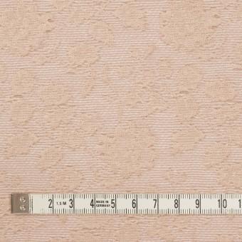 ポリエステル&ウール混×フラワー(ピンクベージュ)×ジャガード_全2色 サムネイル4