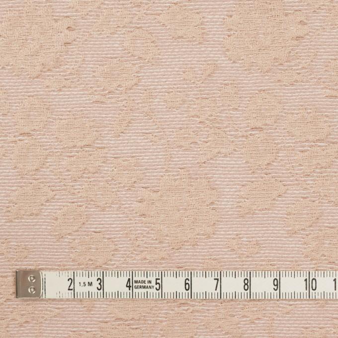 ポリエステル&ウール混×フラワー(ピンクベージュ)×ジャガード_全2色 イメージ4