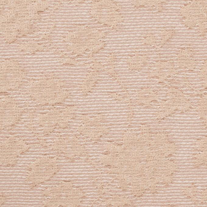 ポリエステル&ウール混×フラワー(ピンクベージュ)×ジャガード_全2色 イメージ1