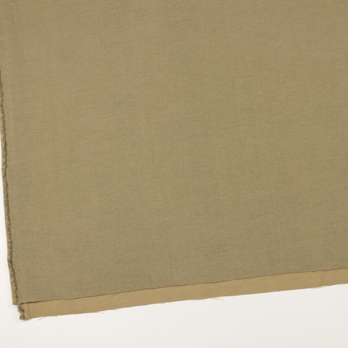 ウール&カシミア混×無地(カーキベージュ)×サージ_イタリア製 イメージ2