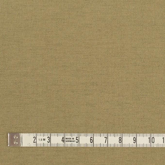 ウール&カシミア混×無地(カーキベージュ)×サージ_イタリア製 イメージ4