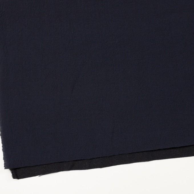 ウール&シルク混×無地(ネイビー)×二重織 イメージ2