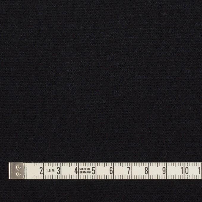ウール&シルク混×無地(ネイビー)×二重織 イメージ5