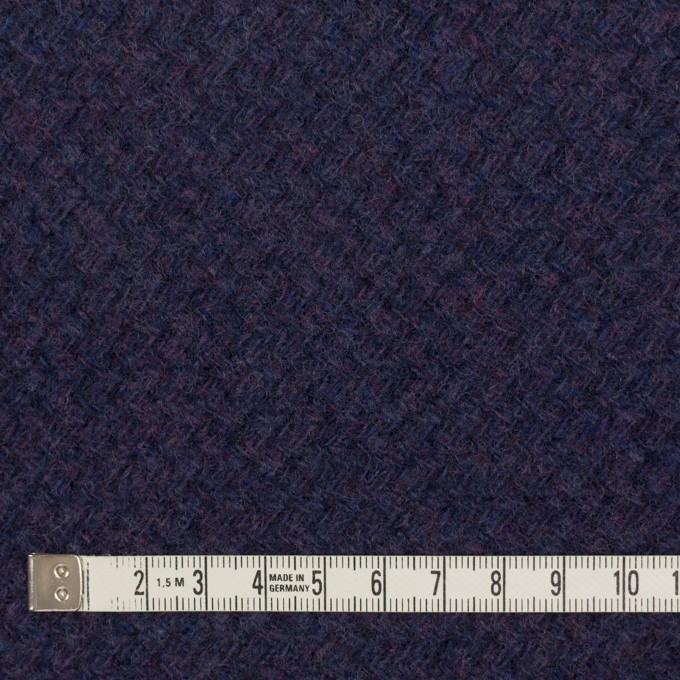 ウール×無地(グレープ)×かわり編み イメージ4
