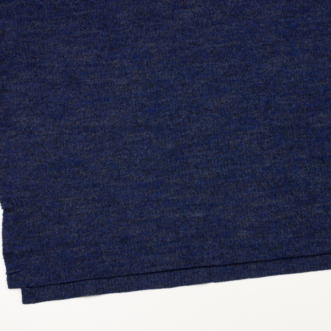 ウール&ナイロン×ミックス(マリンブルー&チャコール)×かわり編み イメージ2