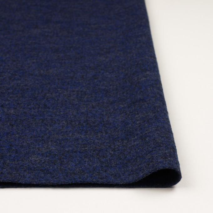 ウール&ナイロン×ミックス(マリンブルー&チャコール)×かわり編み イメージ3
