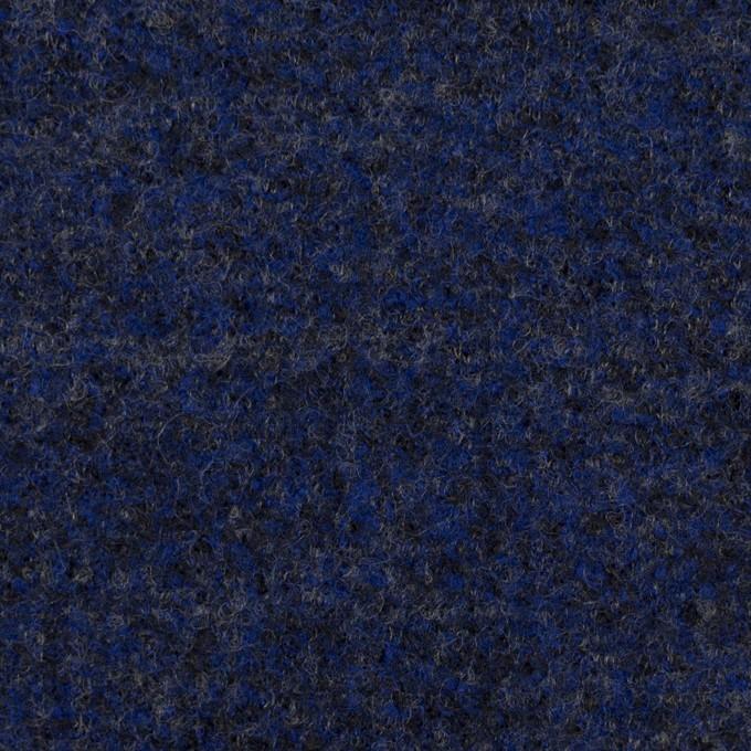 ウール&ナイロン×ミックス(マリンブルー&チャコール)×かわり編み イメージ1