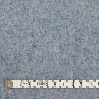 ウール&ナイロン×無地(サックス)×フラノ(フランネル) サムネイル4