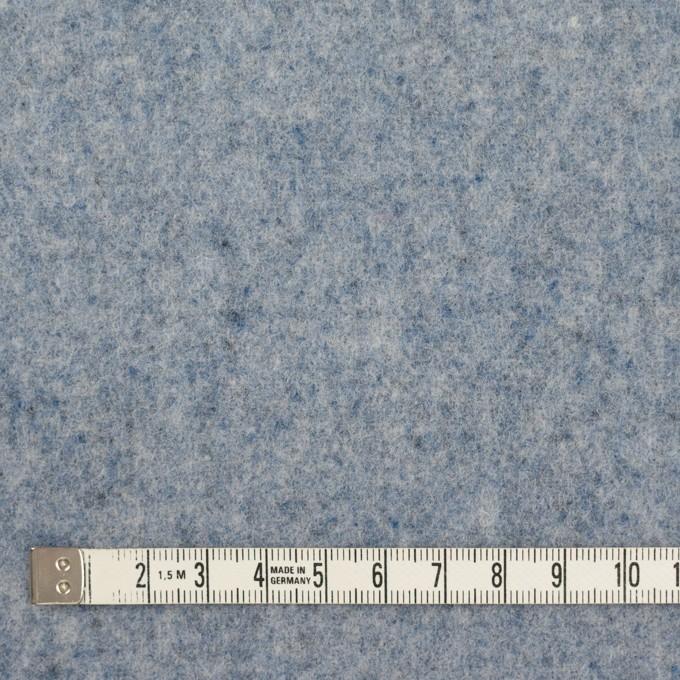 ウール&ナイロン×無地(サックス)×フラノ(フランネル) イメージ4
