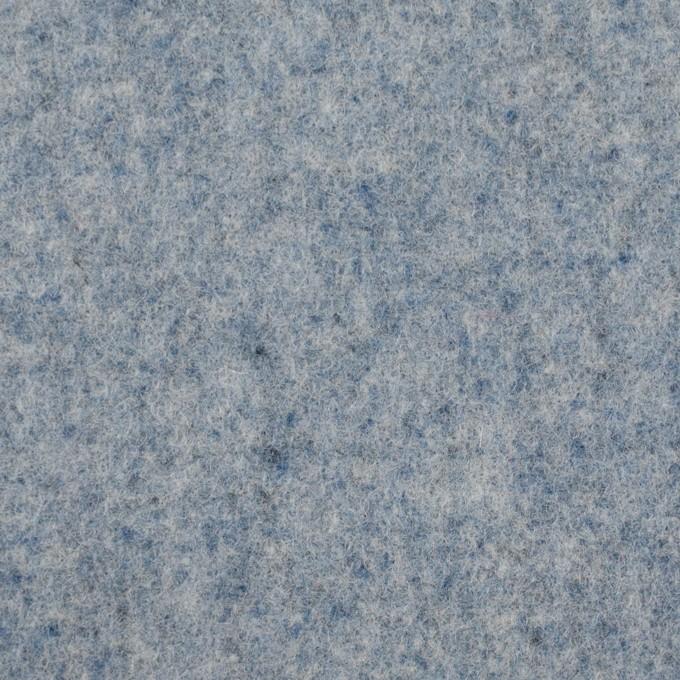 ウール&ナイロン×無地(サックス)×フラノ(フランネル) イメージ1
