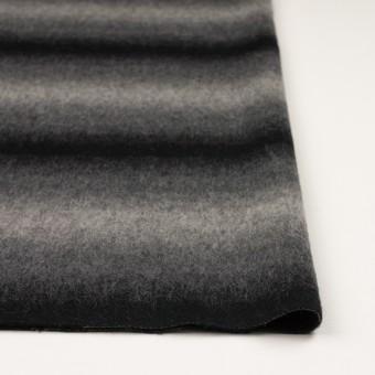 ウール&カシミア×オンブレ(ブラック&グレー)×ビーバー_全2色 サムネイル3
