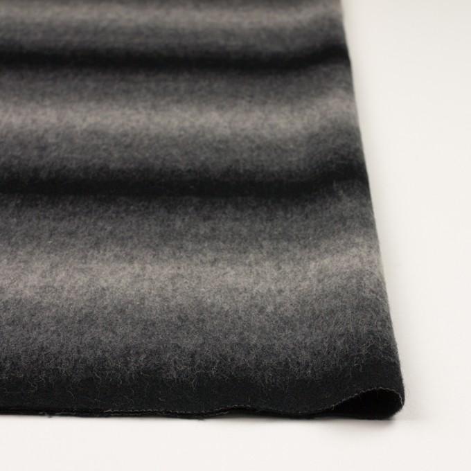 ウール&カシミア×オンブレ(ブラック&グレー)×ビーバー_全2色 イメージ3