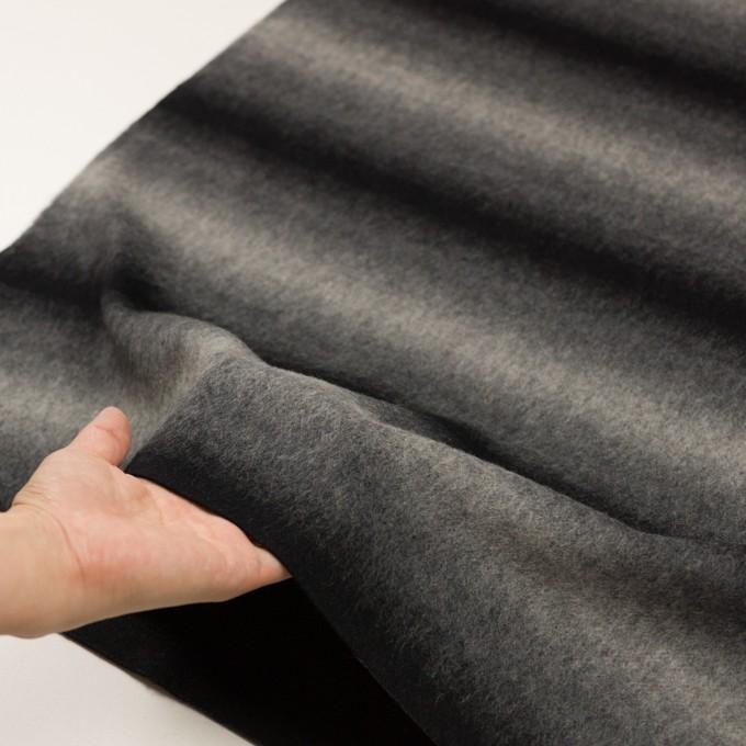 ウール&カシミア×オンブレ(ブラック&グレー)×ビーバー_全2色 イメージ6