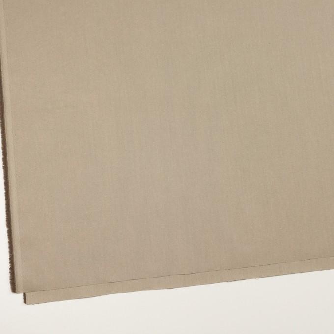 コットン×無地(ベージュ&ダークブラウン)×シャンブレーチノクロス_全3色 イメージ2
